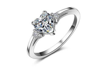 Style 925 Silver Plated Simple Crystal Band 3