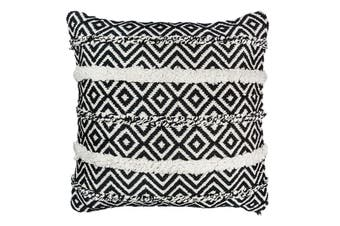 Black/White Woven Cushion