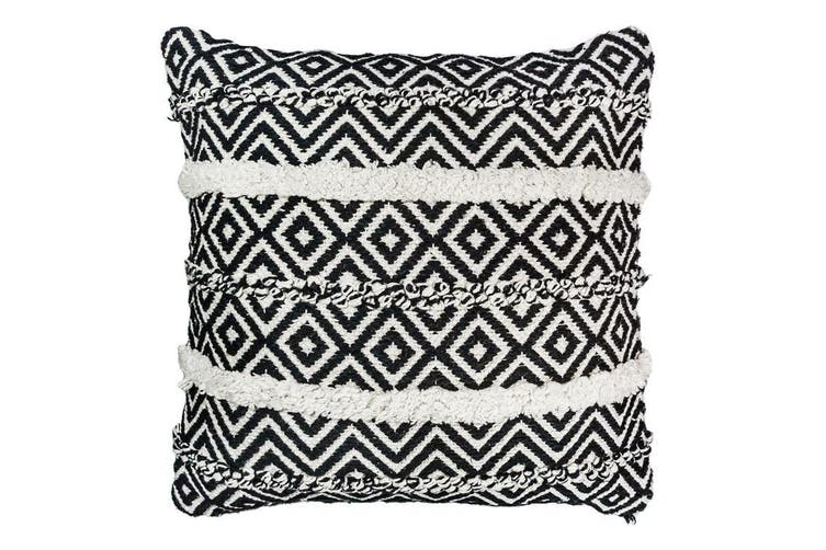 Black/White Woven Cushion