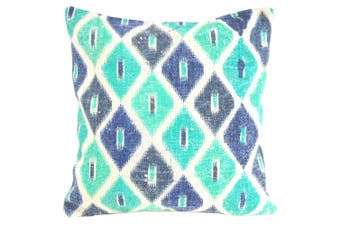Turquoise and Emerald Diamond Cushion Cover