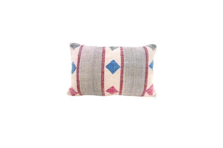 Pink and Grey Cushion Cover