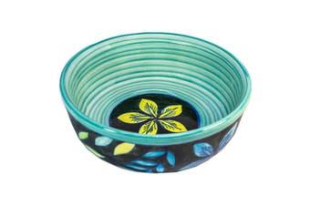 Black/Floral Cereal Bowl