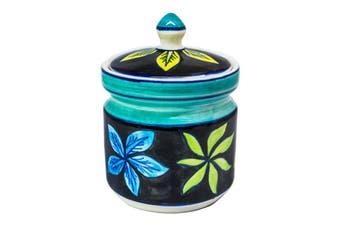 Black/Floral Sugar Pot