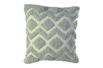 Grey/White Woven Cotton Cushion