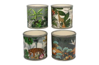 S/4 jungle design pot plant holders