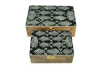 Set of 2 striped boxes