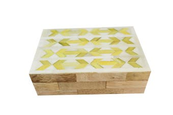 Yellow and white bone box