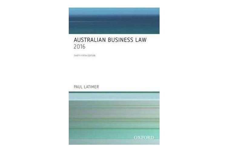 Australian Business Law 2016