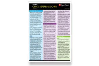 Quick Reference Card Tax II, 2016