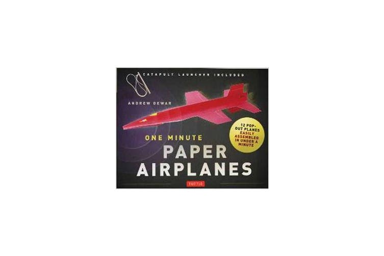 One Minute Paper Airplanes (Kit) - 12 Pop-Out Planes Easily Assembled in Under a Minute