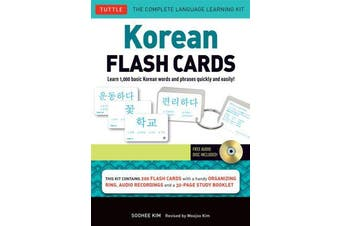 Korean Flash Cards Vol.1 - Learn 1,000 Basic Korean Words and Phrases Quickly and Easily!