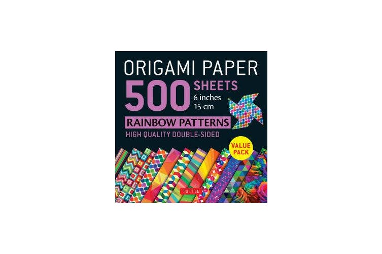 Origami Paper 500 sheets Rainbow Patterns 6 inch (15 cm)