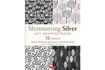 Shimmering Silver Gift Wrapping Papers 12 Sheets - High-Quality 18 x 24 inch (45 x 61 cm) Wrapping Paper