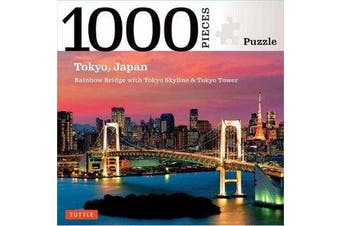 Tokyo Skyline Jigsaw Puzzle - 1,000 pieces - The Rainbow Bridge and Tokyo Tower (Finished size 24 in X 18 in)