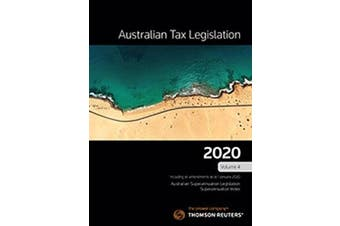 AUSTRALIAN TAX LEGISLATION 2020 VOLUME 4-BOOK