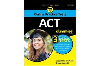 ACT For Dummies - Book + 3 Practice Tests Online + Flashcards