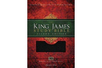 KJV Study Bible, Large Print, Bonded Leather, Black, Red Letter Edition - Second Edition