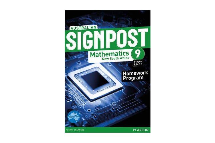 Australian Signpost Mathematics New South Wales 9 (5.1-5.3) Homework Program