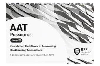 AAT Bookkeeping Transactions - Passcards