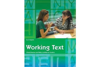 Working Text - X-word Grammar and Writing Activities for Students