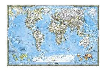 World Classic, Poster Size, Tubed - Wall Maps World