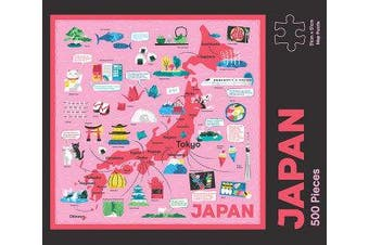 Japan Map Puzzle - 500-Piece Jigsaw Puzzle