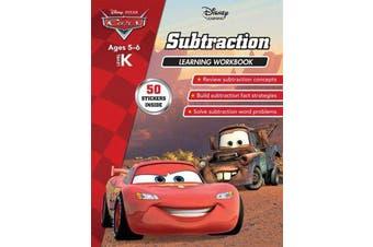 Disney Cars - Subtraction Learning Workbook Level K