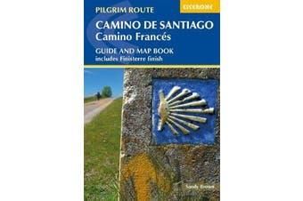 Camino de Santiago: Camino Frances - Guide and map book - includes Finisterre finish