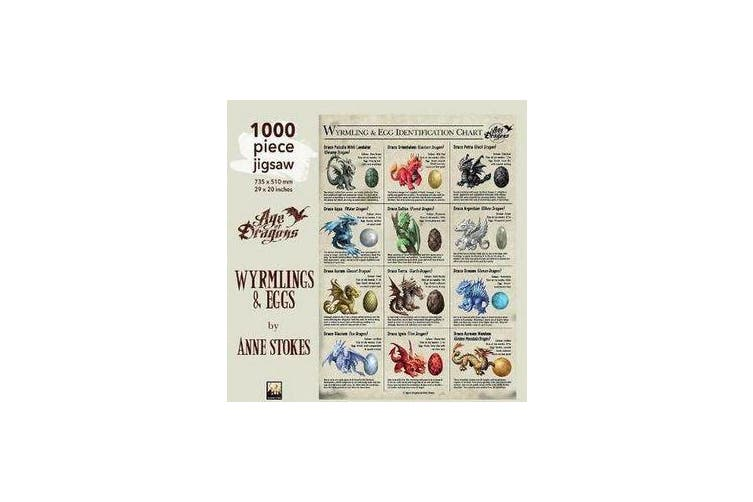Adult Jigsaw Puzzle Anne Stokes: Wyrmlings & Eggs - 1000-piece Jigsaw Puzzles
