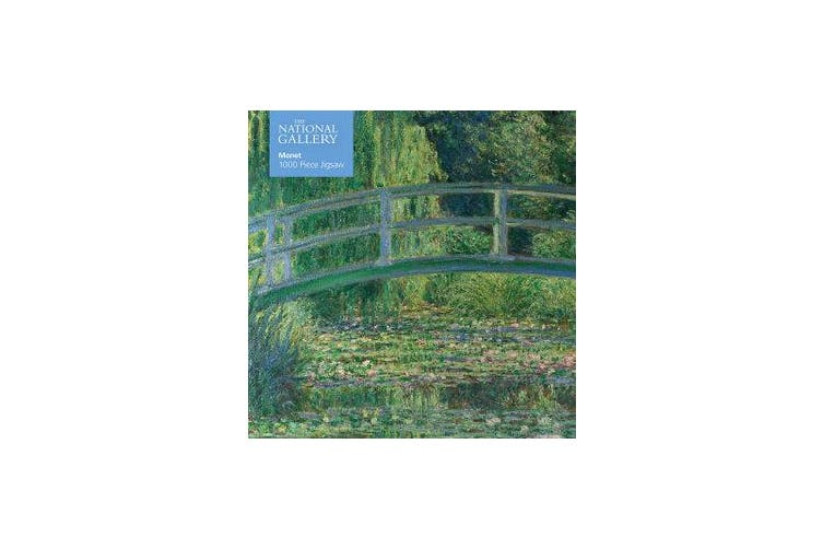 Adult Jigsaw Puzzle National Gallery Monet: Bridge over Lily Pond - 1000-piece Jigsaw Puzzles