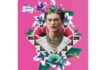 Adult Jigsaw Puzzle Frida Kahlo Pink - 1000-piece Jigsaw Puzzles