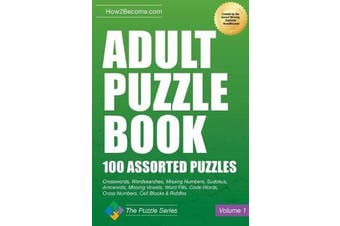 Adult Puzzle Book - 100 Assorted Puzzles