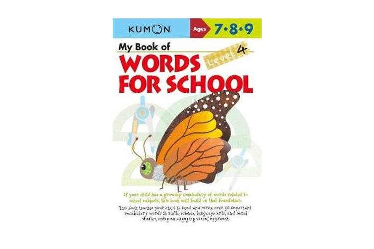 My Book of Words for School - Level 4