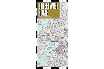 Streetwise Rome Map - Laminated City Center Street Map of Rome, Italy
