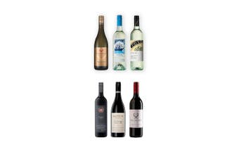 BoozeBud Mixed Red & White Wine Bundle 750mL Case of 6