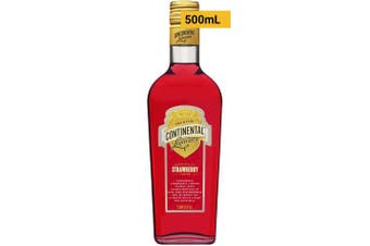 Continental Liqueurs Strawberry Liqueur 500mL Bottle