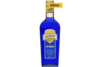 Continental Liqueurs Blue Curacao 500mL Bottle