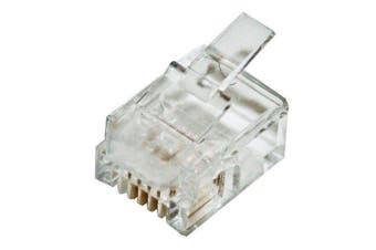 CABAC Plug RJ11 - 4P4C Round Solid 10Pk