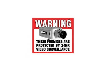 Cctv Warning Sticker [Rear] Rear Adhesive Ness