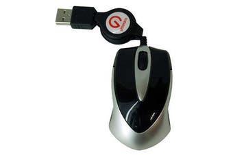 Shintaro Notebook Mini Optical Mouse w/ retractable cable