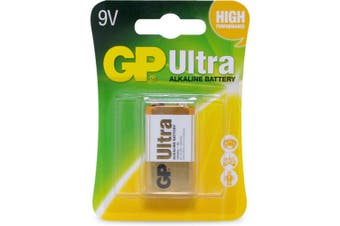Gp - 9V Ultra Alkaline Battery Single Card