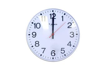 "250Mm (10"") Wall Clock White 10Mt View"