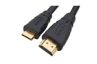 CABAC HIGH SPEED V1.4 HDMI type A connector to Mini HDMI type C connector 2m Cable 40HDMI1.4AC2