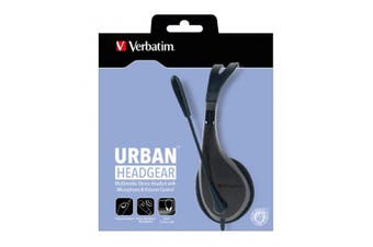 Verbatim Multimedia Headset with Microphone Wide Frequency Stereo 40mm Drivers