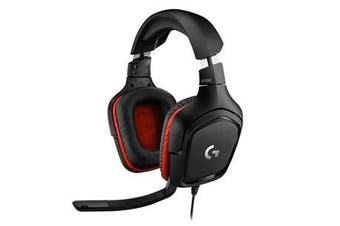 Logitech G332 Wired Gaming Headset Black 3.5mm Cable Light Weight 2Year Warranty