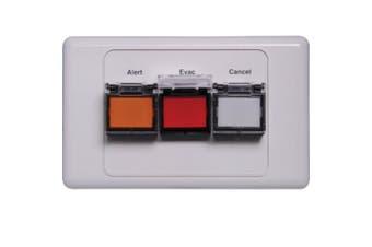 Redback Alert/Evac/Cancel Remote Control Plate Dual Cover