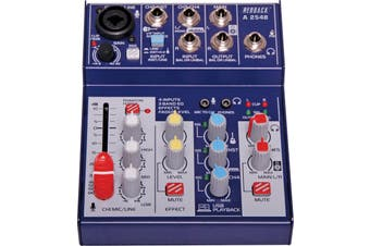 Ultra compact design 4 Channel Mixer With USB Output & Effects with USB PC interface