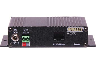3 Relay 2 Serial Control Hub Requires 24V DC power which in turn powers the A 6500 wallplate