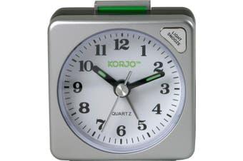 Analogue Travel Alarm Clock Snooze Button And Night Light