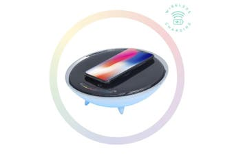 mbeat Wireless Charging Station with RGB Colour Lighting Charging Stand